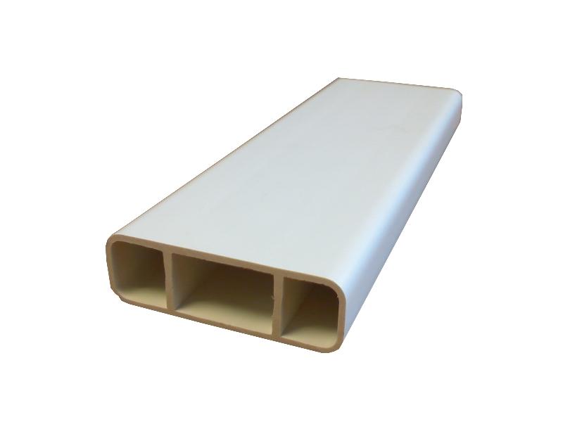 lisse barreaudage 50br 50x16x1 5 blanc. Black Bedroom Furniture Sets. Home Design Ideas