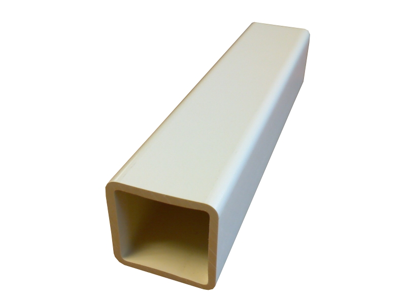 Tube carré barreaudage T3131 31x31x2.5 blanc