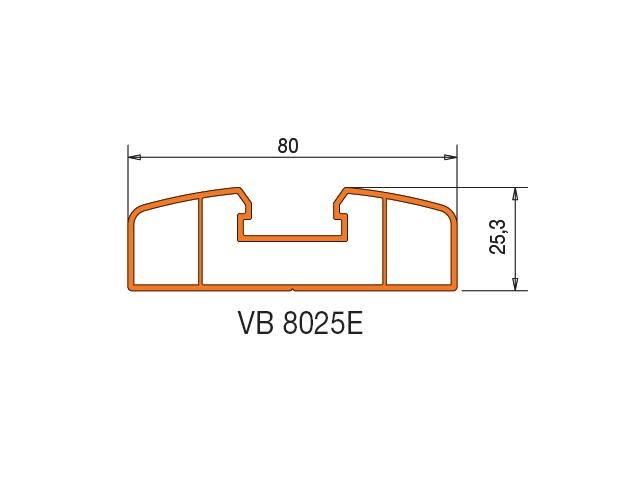 pvc profil s volet profil de barre vb8025e de 80mm sans chemin e vert olive. Black Bedroom Furniture Sets. Home Design Ideas